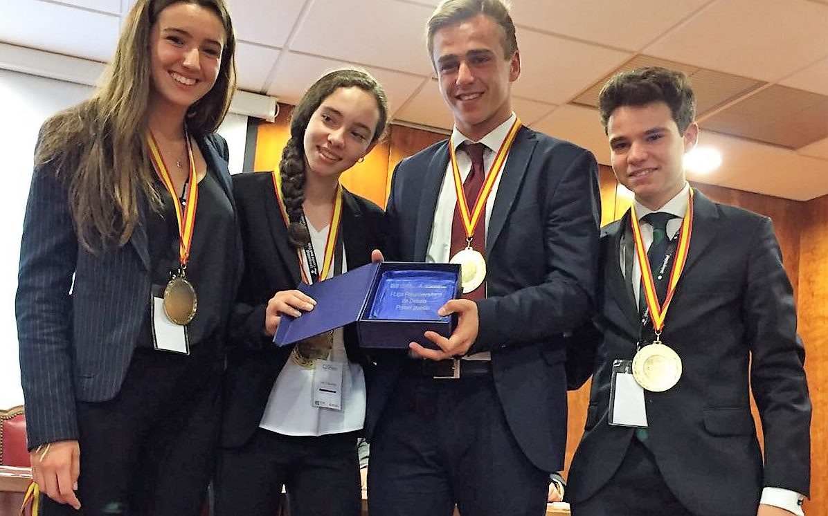 SEK-Ciudalcampo winner at the 1st CICAE-UCJC National School Debate League  Tournament - SEK Ciudalcampo 0d9a2926d8